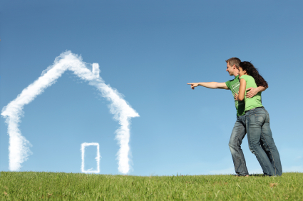 couple-pointing-at-cloud-home